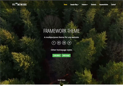 Framework Theme Demo