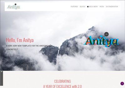 Anitya theme demo
